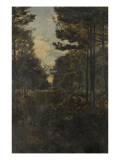Chemin sous bois Giclee Print by Alfred Roll