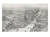 Vue générale de l'Exposition Universelle de 1889 Giclee Print by Auguste Victor Deroy