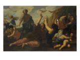 Passage des cailles en Egypte Giclee Print by Giovanni Francesco Romanelli