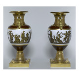 Paire de vases Percier Reproduction proc&#233;d&#233; gicl&#233;e par Piat Joseph Sauvage