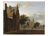 Place et église Saint-Victor à Xanten (Allemagne) Giclée-Druck von Jan Van Der Heyden