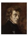 Portrait de Frédéric Chopin (1810-1849), musicien Giclee Print by Eugene Delacroix