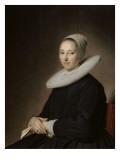 Portrait d'une jeune femme assise Giclée-Druck von Jan Cornelisz Verspronck