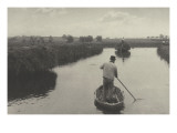 Quanting the Marsh Hay (Shipping Fever in the Scull) Giclee Print by Peter Henry Emerson