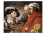 Portrait de trois hommes Giclée-Druck von Francois Andre Vincent