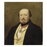 Portrait d'homme Reproduction procédé giclée par Ary Scheffer