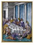 Plaque : le repas chez Simon Giclee Print by Pierre Reymond