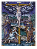 Plaque : la Crucifixion Giclee Print by Pierre Reymond