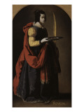 Sainte Lucie Reproduction procédé giclée par Francisco de Zurbaran