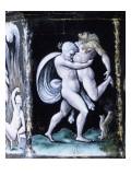 """Salière à six pans représentant """"Les Travaux d'Hercule"""" Giclee Print by Pierre Reymond"""
