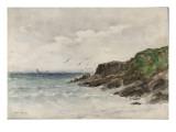 Côte rocheuse au bord de la mer Giclée-Druck von Emile Vernier