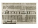 Planche 160 : Plan , élévation et élévation du Pont-Neuf à Paris Giclee Print by  Pate
