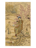 Princes and Servants with Reading Dogs Beside a Tree Giclee Print