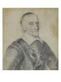 Portrait en buste d'un ecclésiastique coiffé de sa calotte Giclee Print by Robert Nanteuil