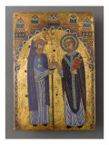 Plate Altar: St. Stephen of Muret and Hugh of Lacerta Giclee Print