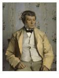 Portrait de Pierre Mathey (1804-1887), son père Reproduction procédé giclée par Paul Mathey