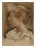 Portrait d&#39;Aline Mar&#233;chal (1868-1938) Reproduction proc&#233;d&#233; gicl&#233;e par Georges Lemmen