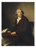 Portrait de Giovanni Paisiello (1741-1816), compositeur Giclée-Druck von Elisabeth Louise Vigée-LeBrun