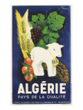 Affiche de Guy Nouen Algérie, pays de la qualité Giclée-tryk