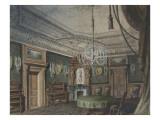 Projet pour le palais Nathaniel de Rothschild à Vienne : salle à manger Reproduction procédé giclée par Antoine Zoegger