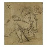 Saint Mathieu et l'ange Giclée-Druck von Giorgio Vasari