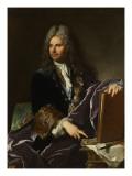 Robert de Cotte (1657-1735), premier architecte du roi Giclee Print by Hyacinthe Rigaud