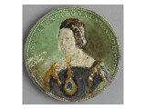 Round Medallion with the Bust of Isabella of Portugal Giclee Print by Bernard Palissy