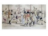 Promenade de Longchamp. Giclee Print by Antoine Charles Horace Vernet
