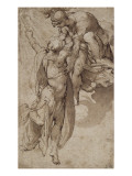 Prometheus, Aided by Minerva, Steals Fire from Heaven Giclee Print by Pellegrino Tibaldi