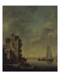 Ruines au bord d'une rivière Giclée-Druck von Jan Van Goyen