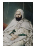 Portrait de l'Emir Abd-El-kader (vue de face) Gicleetryck av Maxime David