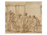 Pyrrhus et Glaucius Giclée-Druck von Francois Andre Vincent