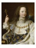 Portrait de Louis XV, âgé de cinq ans (1710-1774), assis sur son trône en grand costume royal Giclee Print by Hyacinthe Rigaud