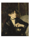 Portrait de Berthe Morisot à l'éventail Giclee Print by Édouard Manet