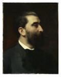 Portrait of Jose-Maria De Heredia (1842-1905), Poet Giclee Print by Emile Levy