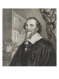 Portrait de Adrien Pauw (d'après G. V. Honthorst sous la direction de Soutman) Giclée-Druck von Cornelius de Visscher
