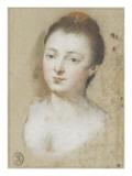Portrait einer Frau Giclée-Druck von Nicolas Vleughels