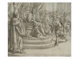 Rodolphe de Habsbourg recevant l'hommage de ses vassaux Giclee Print by Matteo Rosselli