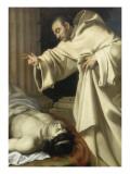 Saint Bernard ressuscitant un mort Giclée-Druck von Aubin Vouet