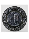 Assiette en émail peint provenant d'un service à décor en grisaille : Vénus et Psyché Giclee Print by Pierre Reymond