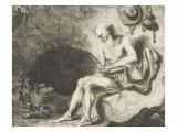 Saint Jérôme dans une caverne Lámina giclée por Ferdinand Bol