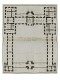 Plate 183: First Floor Plan of the Luxembourg Palace Giclee Print by Jacques-François Blondel