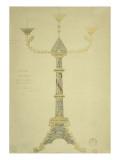 Projet de candélabre à sept branches Giclée-Druck von Eugène Viollet-le-Duc