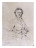 Portrait of Niccolo Paganini, Violinist (1782-1840) Giclee Print by Jean-Auguste-Dominique Ingres