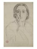 Portrait de Thérèse De Gas-Morbilli, étude pour le portrait de M. et Mme Edmondo Morbilli Giclee Print by Edgar Degas