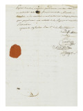 Purchase Deed by Joseph Bonaparte of Milelli Domains Reproduction proc&#233;d&#233; gicl&#233;e