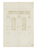 Projet pour la transformation du choeur de la cathédrale de Bamberg Giclée-Druck von Herman Vischer