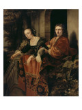 Portrait d'un couple Lámina giclée por Ferdinand Bol