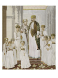 Portrait of Nawalb Shujal'Ud-Daulah with His Son Ten Giclee Print