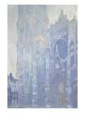 Cathédrale de Rouen. Le portail et la tour Saint-Romain, effet du matin, harmonie blanche Giclee Print by Claude Monet